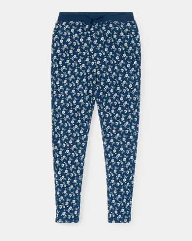 Floral Cotton Terry Pant