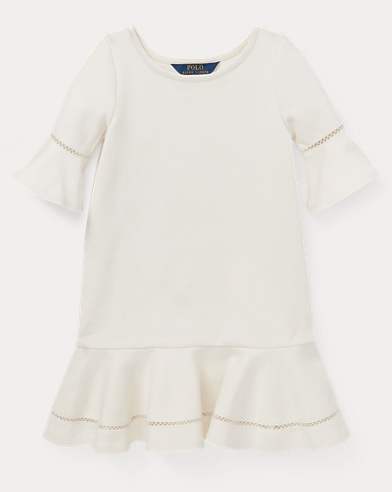 Inset-Lace Ponte Dress