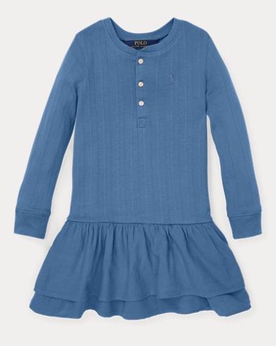 Cotton Henley Dress