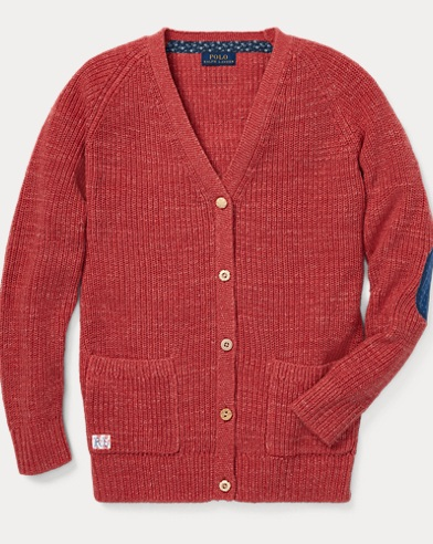 Elbow-Patch Boyfriend Cardigan