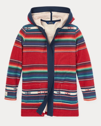 Serape Terry Open Cardigan