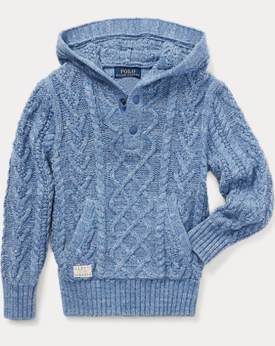 Aran Cotton Hooded Sweater
