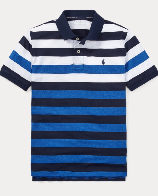f692c03ec9 Striped Performance Lisle Polo