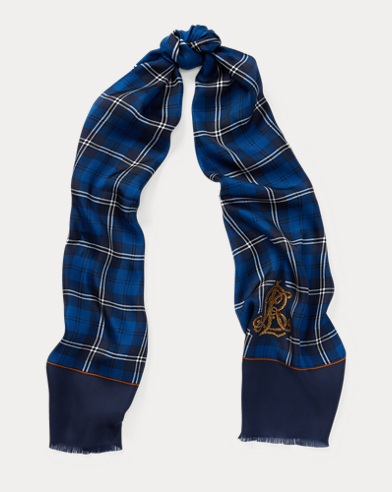 Logo Plaid Scarf
