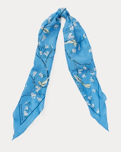 Floral Silk Habotai Scarf