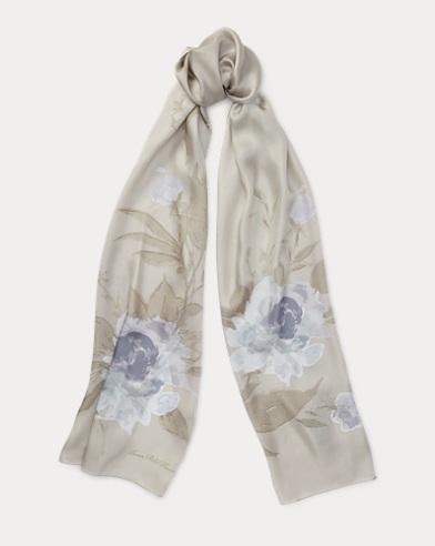 Bloom Silk Twill Scarf