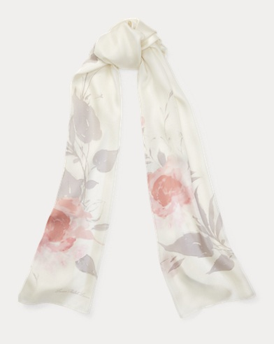 Bloom Silk Twill Scarf