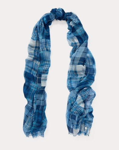Plaid Patchwork Modal Scarf