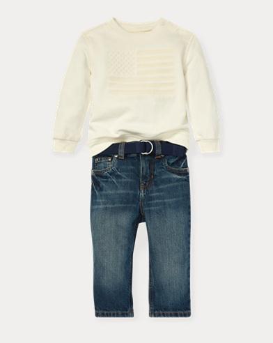 Flag Sweatshirt & Jean Set