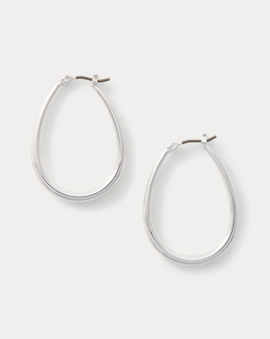 Teardrop Metal Hoops