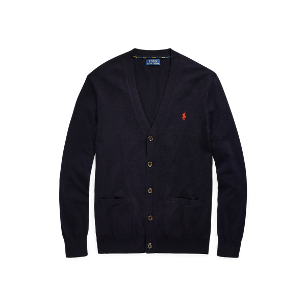 폴로 랄프로렌 Polo Ralph Lauren Cotton V-Neck Cardigan,헌터 Hunter Navy
