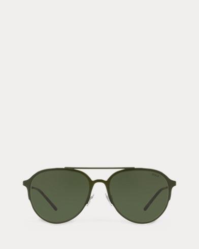 Pilotenbrille mit Metallrahmen