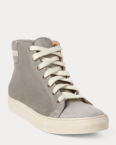 Sneaker Jerold in camoscio