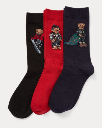 Holiday Bear Sock 3-Pack
