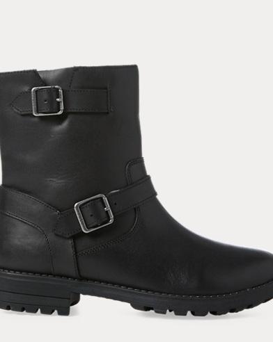 Evalee Leather Moto Boot