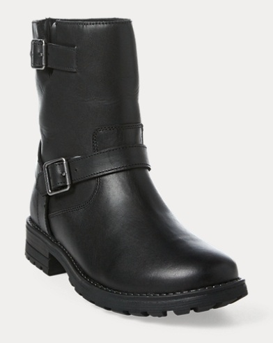 Evalee Leather Moto Boot