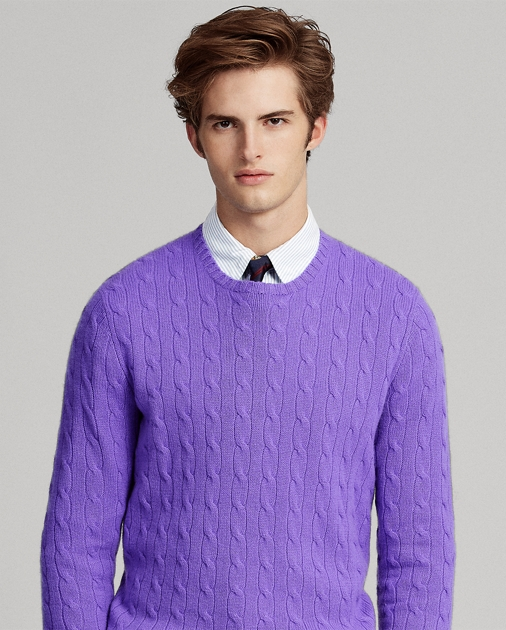 f706025179b371 Cable-Knit Cashmere Sweater | Crewneck Sweaters | Ralph Lauren