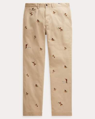 Classic Fit Embroidered Chino