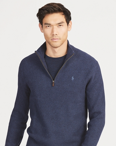 Tussah Silk Half-Zip Sweater