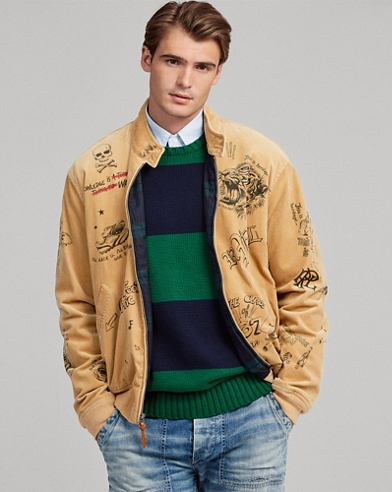 Print Stretch Corduroy Jacket