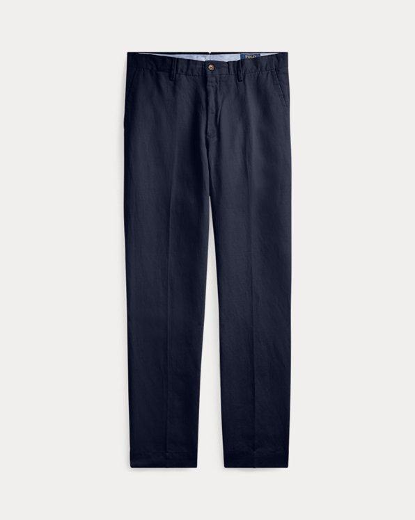 Pantaloni in misto lino Classic-Fit