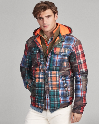 Patchwork Down Jacket