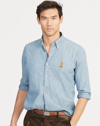 Classic Fit Chambray Popover