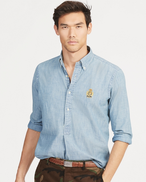 2d7ef30b Polo Ralph Lauren Classic Fit Chambray Popover 1