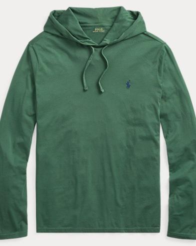 Cotton Jersey Hooded T-Shirt