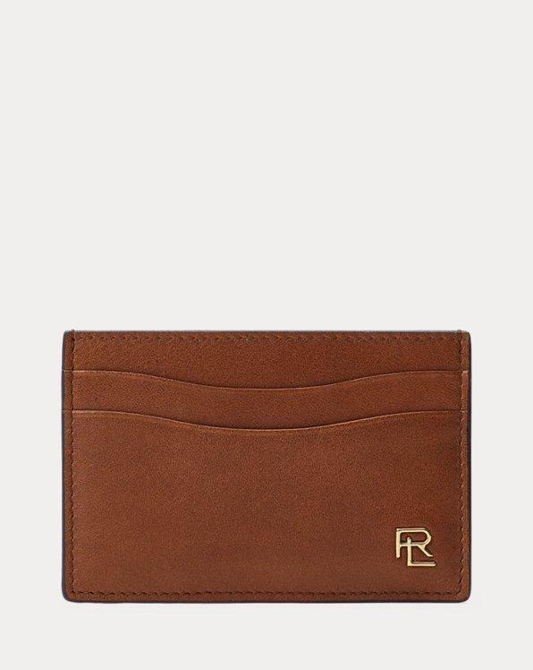 Polo Ralph Lauren Metal-Plaque Leather Card Case