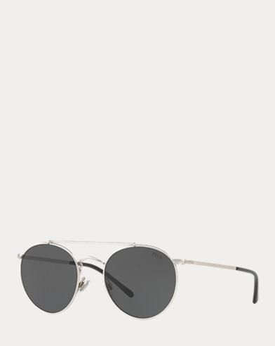 82407d1ce Double-Bridge Round Sunglasses. Polo Ralph Lauren