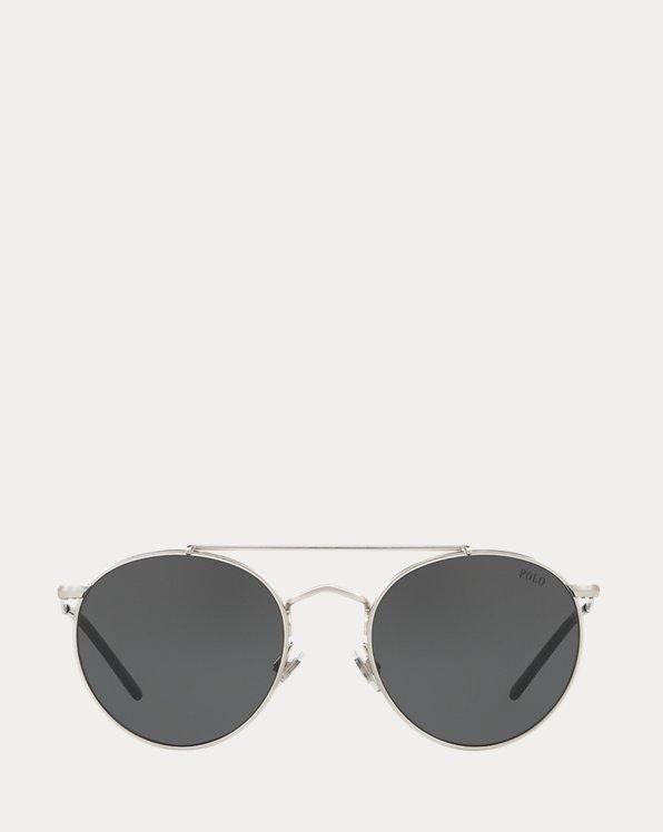 Double-Bridge Round Sunglasses