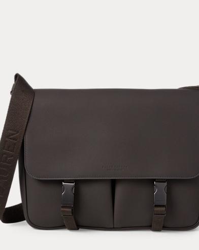 db0b80f87028 Aniline Calfskin Messenger Bag. Ralph Lauren