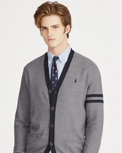 Wool-Blend Letterman Cardigan