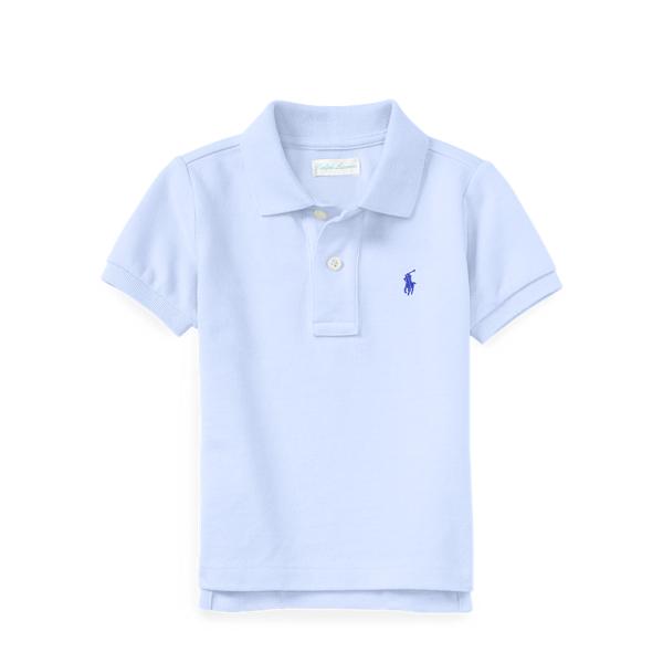 Ralph Lauren Cotton Mesh Polo Shirt Blue 18M