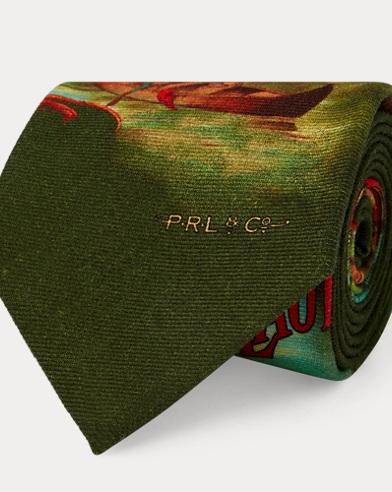 Cravatta in lana con canoe