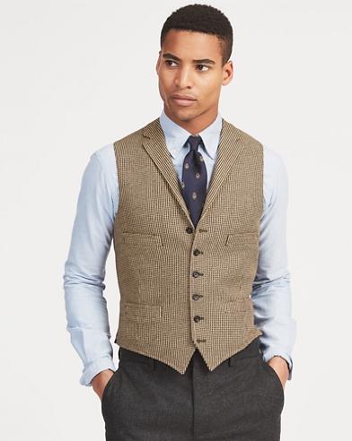 Tick-Weave Wool-Silk Vest 3b81d5de29f