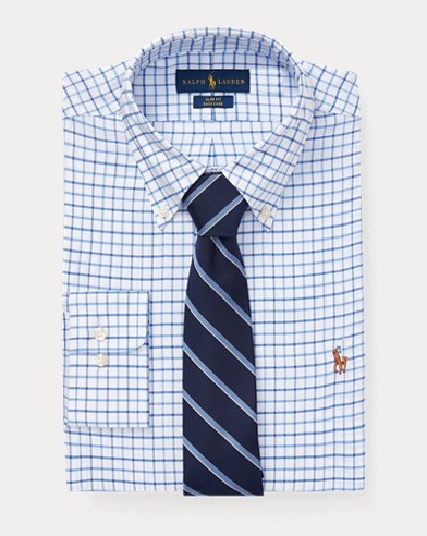 Slim Fit Checked Oxford Shirt