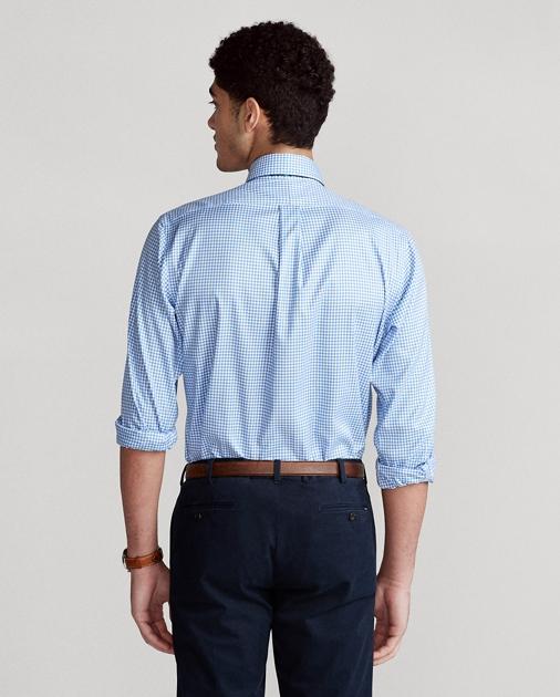 ab25c969d2b Custom Fit Gingham Dobby Shirt
