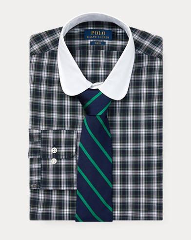 Slim Fit Tartan Poplin Shirt