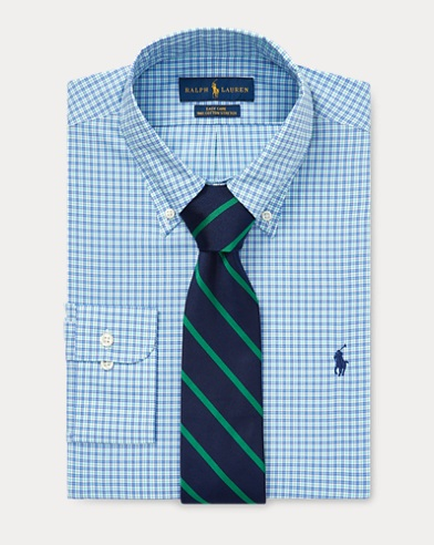 Custom Fit Plaid Oxford Shirt