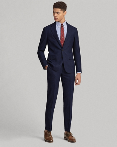 Polo Houndstooth Wool Suit
