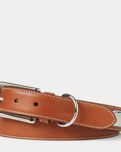 Full-Grain Leather Plaque Belt