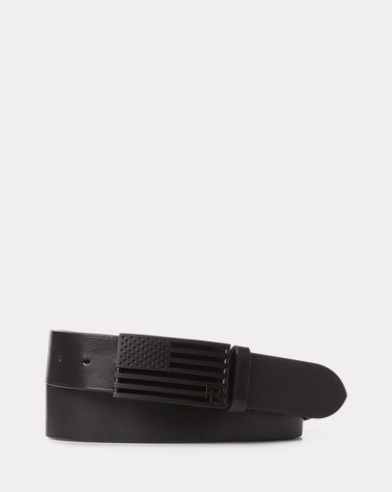 Flag Full-Grain Leather Belt