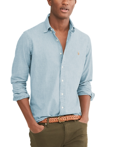 Camicia in chambray Slim-Fit