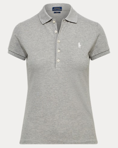 Camiseta polo elástica Slim-Fit