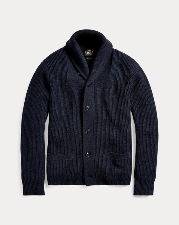 Cashmere Shawl-Collar Cardigan