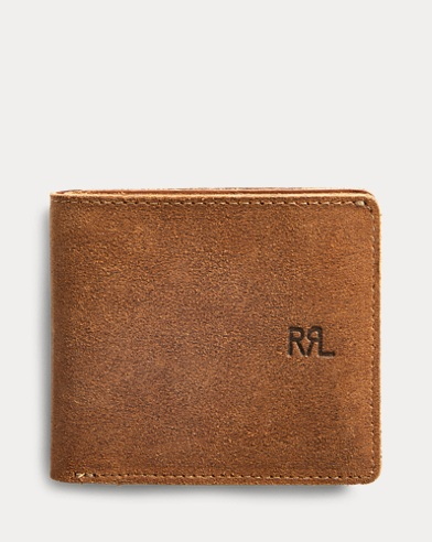 Roughout Suede Billfold Wallet