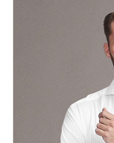 Satin-Stripe French Cuff Shirt