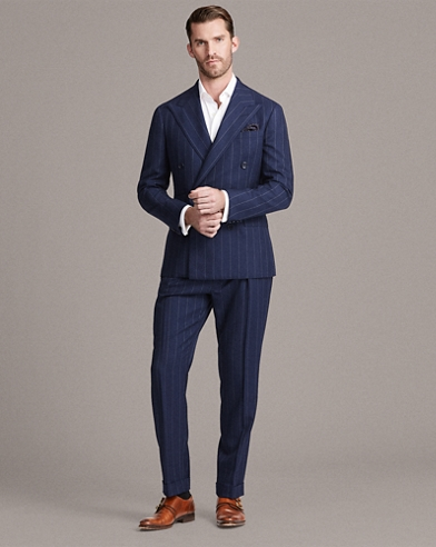 Striped Wool-Blend Twill Suit